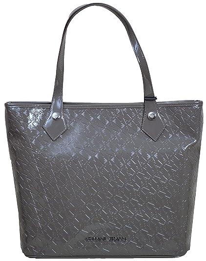 30a28e9f4337 Armani Jeans Women`s AJ Logo Handbag S05245 A9 Grey  Amazon.co.uk  Shoes    Bags