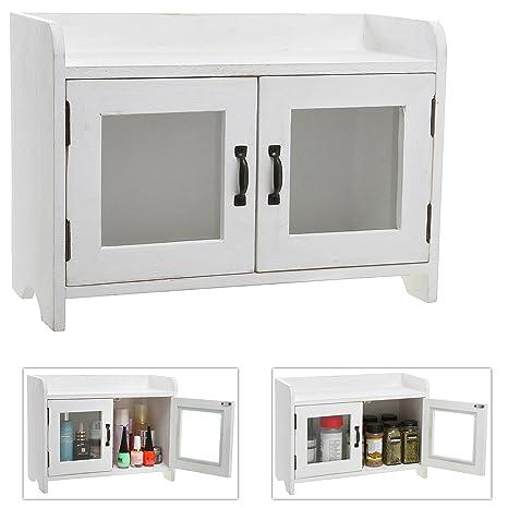 decorative shabby chic white wood mini kitchen cupboard spice cabinet bathroom storage cabinet w - Mini Kitchen Cabinets