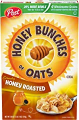 Post Honey Bunches of Oats, Crunchy Honey Roasted, 18 Oz