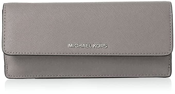 090b2b0ac MICHAEL Michael Kors Jet Set Travel Slim Saffiano Leather Wallet, Color  Pearl Grey at Amazon Women's Clothing store: