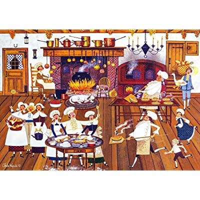 Buffalo Games - Charles Wysocki - Singing Piemakers - 300 Large Piece Jigsaw Puzzle: Toys & Games [5Bkhe0302442]