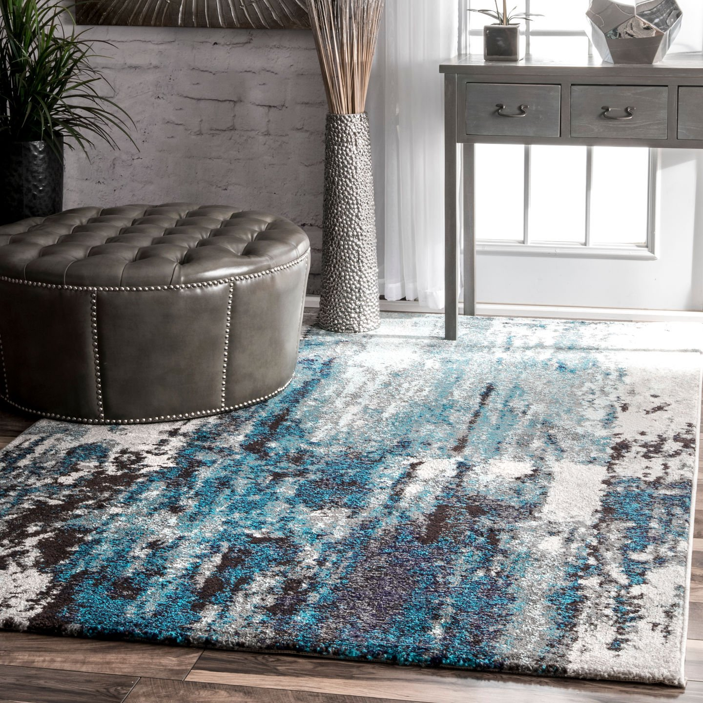 nuLOOM Haydee Abstract Area Rug, 5 x 8 , Blue