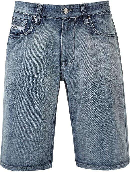 Ecko Unltd Mens Light Crystal Denim Relaxed Shorts