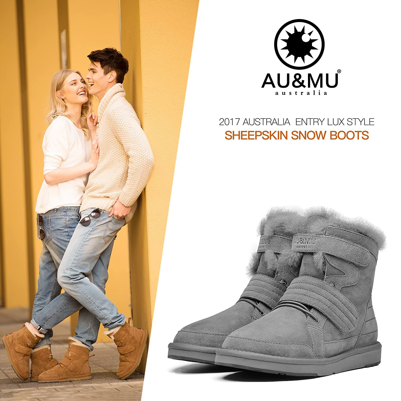 a3c34abeb ... AU MU Women s Full Fur Sheepskin Suede Winter Snow Boots B073F1YZDF  B073F1YZDF B073F1YZDF 5 B(M ...