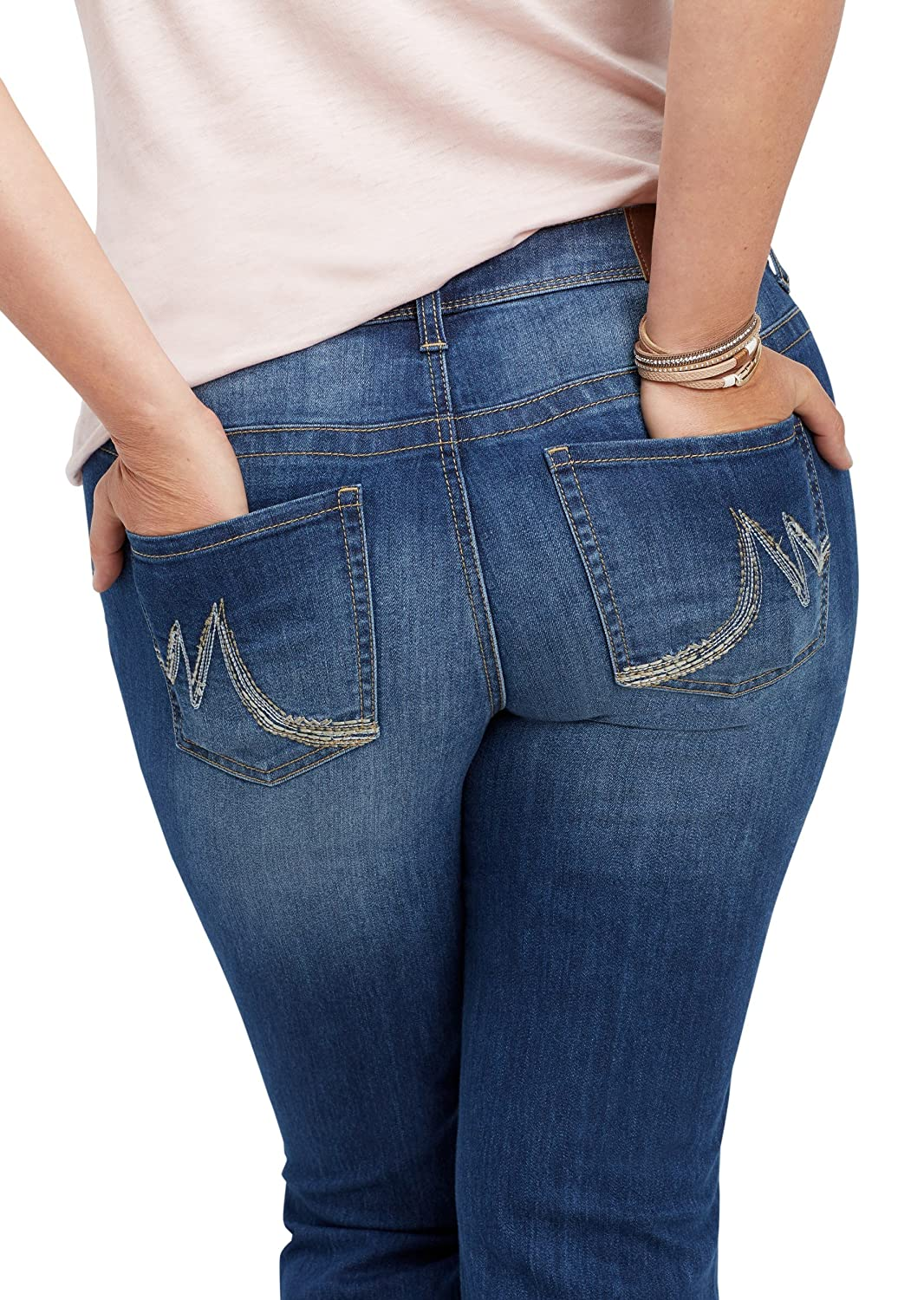 maurices Women's Plus Size Denimflex Medium Wash Bootcut Jean