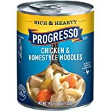 Progresso Rich & Hearty Chicken & Homestyle Noodles Soup 19 oz Can