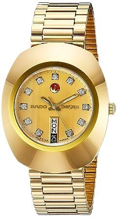 2f4457b79fc Amazon.com  Rado Men s R12413493 Original Gold Dial Watch  Rado  Watches
