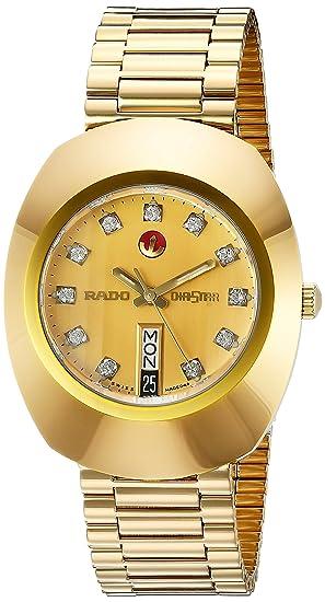 Rado R12413493 - Reloj de pulsera hombre, acero inoxidable, color dorado: Amazon.es: Relojes