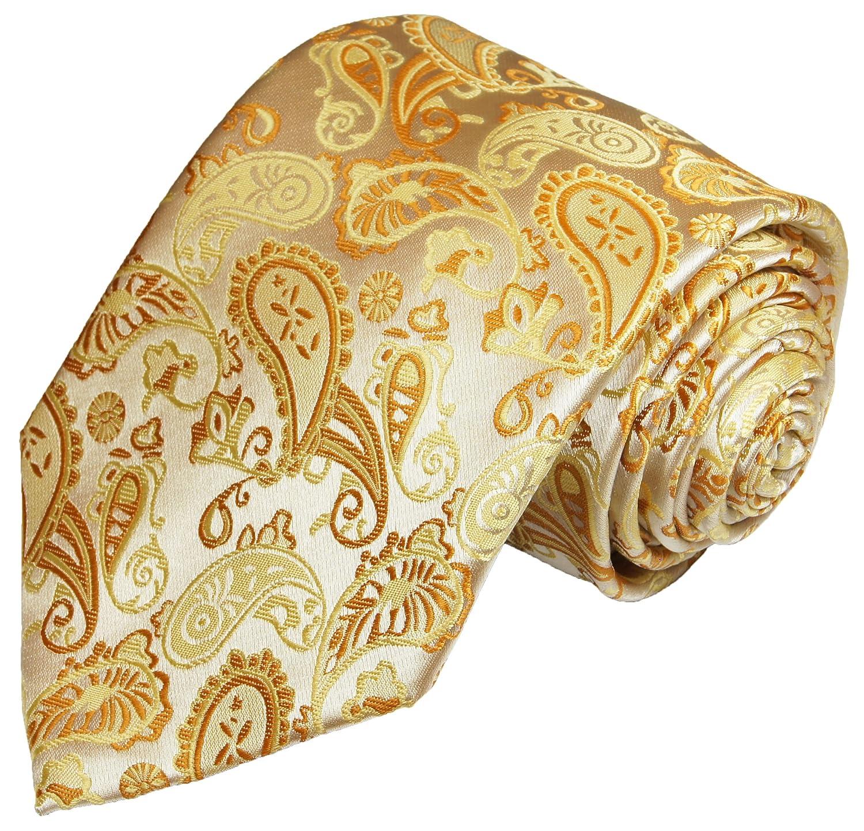 Krawatte von Paul Malone creme gold paisley Hochzeitskrawatte Bräutigam Tie v16