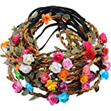 12pcs Girl Fashion Bohemian Flower Crown Floral Garland Headbands For Girls