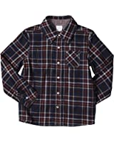 Egg by Susan Lazar Little Boys' Plaid/Check Button Down (Toddler/Kid) - Navy
