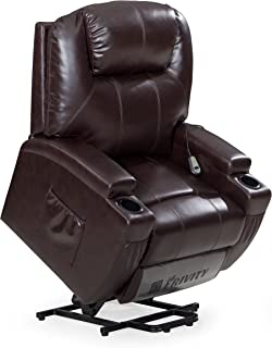 Frivity Power Lift Recliner Chair Classic and Traditional Bonded Leather 1 Seat Sofa Lift Reclining Armchair  sc 1 st  Amazon.com & Amazon.com: Seven Oaks Power Lift Recliner for Seniors | Electric ... islam-shia.org