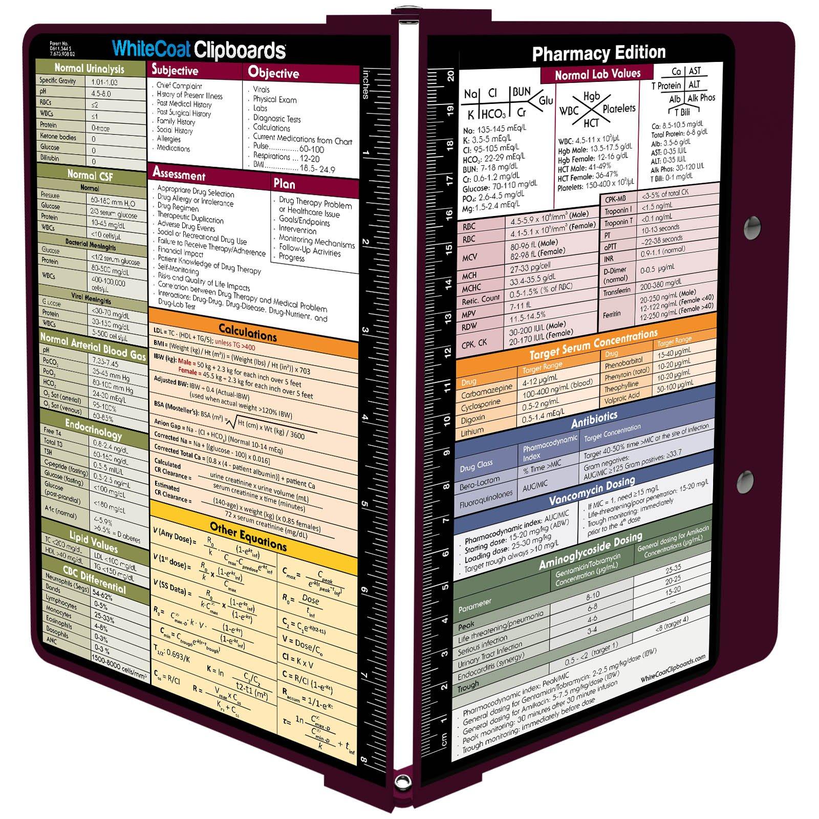 WhiteCoat Clipboard- Wine - Pharmacy Edition by WhiteCoat Clipboard
