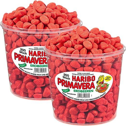 Haribo Primavera Fresas Pequeño, Pack de 2, fruchtiger Espuma ...