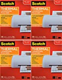 Scotch Brand Thermal Laminating Pouches, 5 Mil Thick for Extra Protection, 100-Pack, 8.9 x 11.4 inches, Letter Size Sheets, Clear (TP5854-100) - 4 Pack