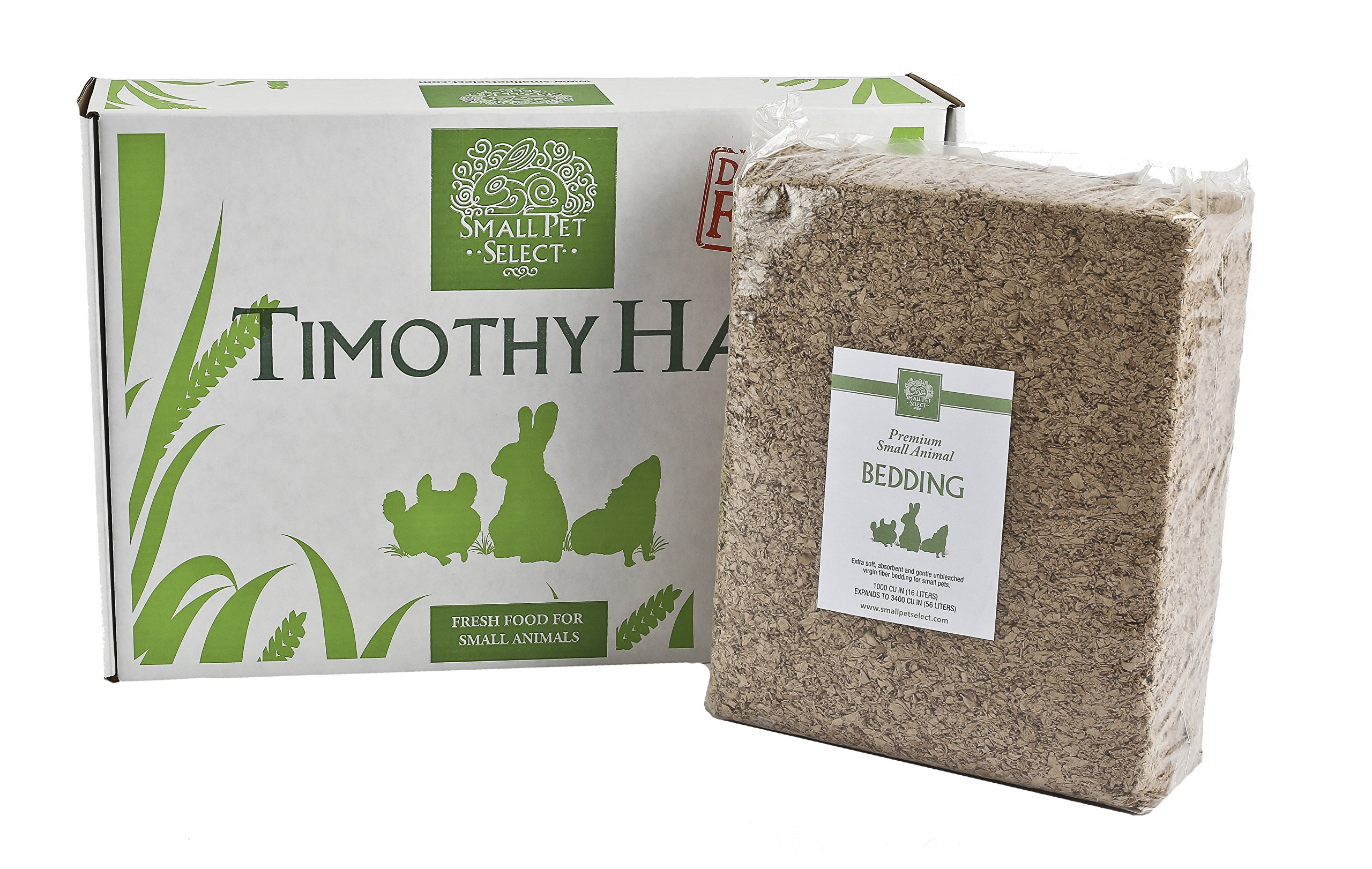 Small Pet Select Timothy Hay And Bedding Combo Pack: Timothy Hay (10 Lb.), Bedding (56L) by Small Pet Select