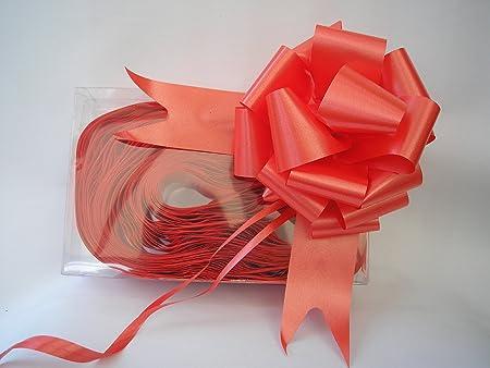 40 x 50mm (5.1cm) Rápido Cinta De Raso Lazos - ROJO para regalo ...