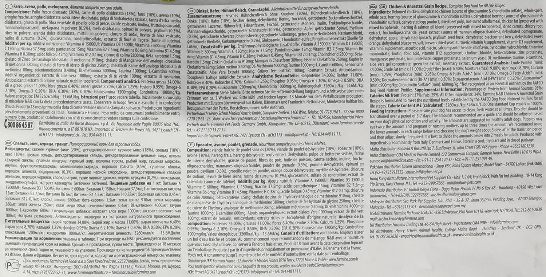 FARMINA N & D Ancestral Dog Light Mini/Mediano po/Melog. Gr 800: Amazon.es: Productos para mascotas