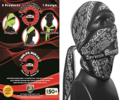 Amazon.com : Solar Ninja, Face Protection, Cooling Towel ...