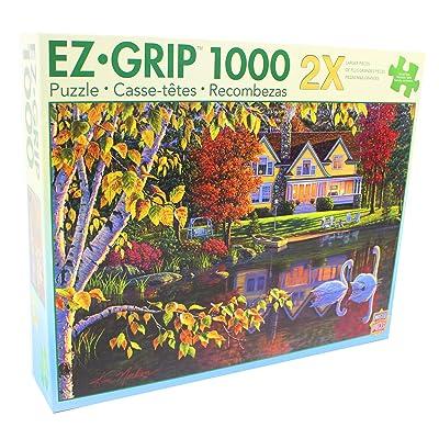 MasterPieces Autumn Reflections EZ Grip Jigsaw Puzzle, Art by Kim Norlien, 1000-Piece: Toys & Games