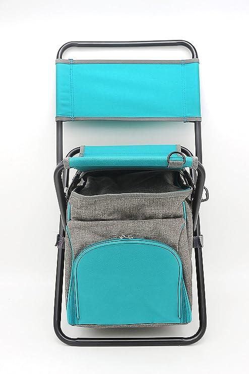 Tabulete plegables con bolsa nevera de pesca silla portátil, silla ...