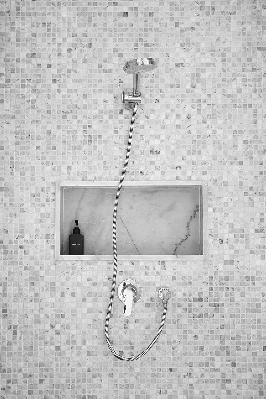 Amazon.com: EZ NICHES   USA   11in X 16in   Ready Tile Niche Preformed  Bathroom Recess It Shower Shampoo Shelf: Home U0026 Kitchen