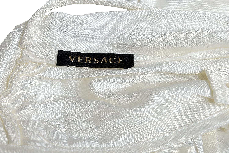 Versace Cream White Sleeveless Women's Blouse Top US XS IT 38
