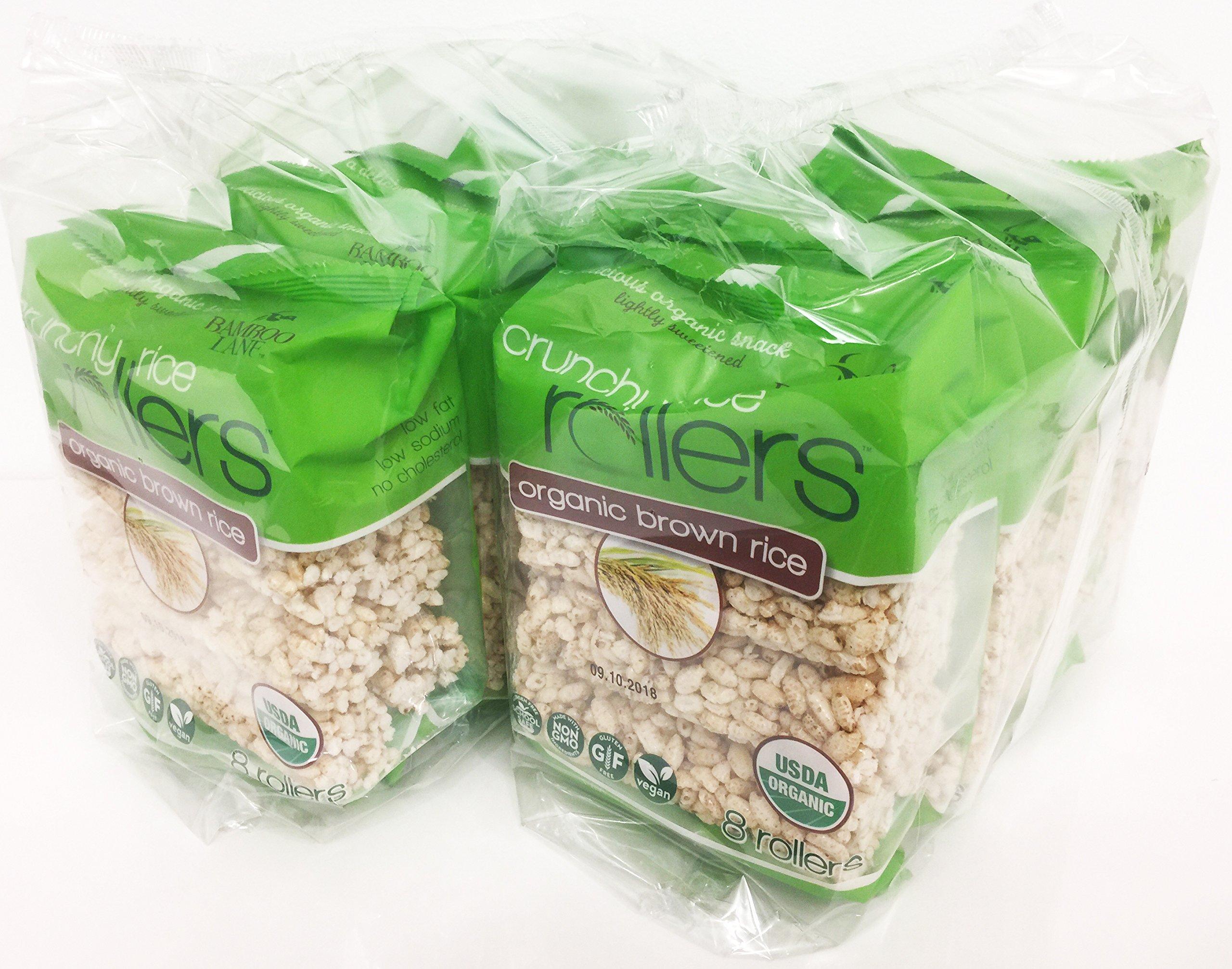 Crunchy Rollers Club Bundle Pack / Organic / Original Brown Rice, 14oz, 2 Bundles (4 packs of 8 rollers each)