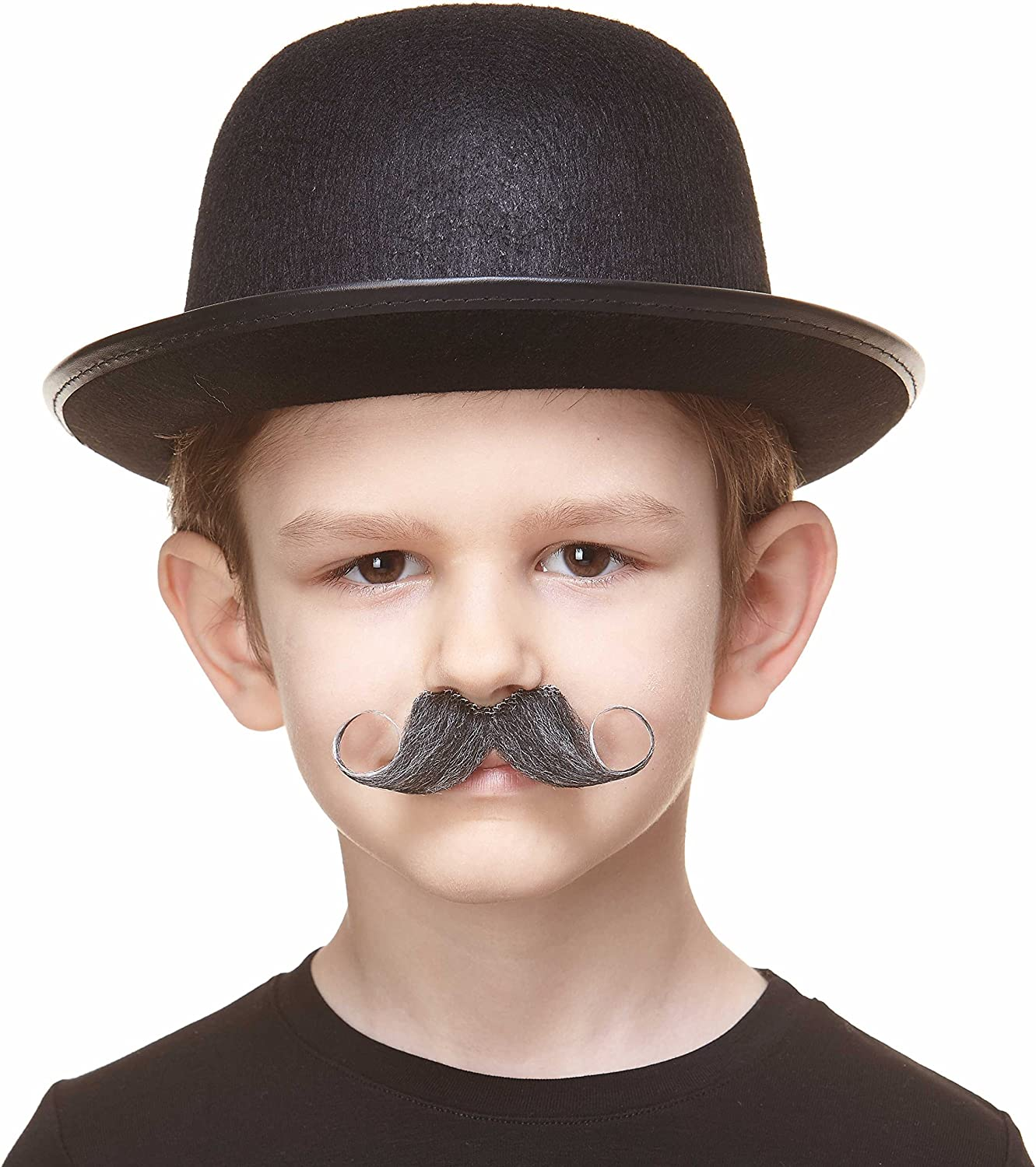 Small Detective False Facial Hair Costume Accessory for Kids Self Adhesive Mustaches Fake Mustache Novelty