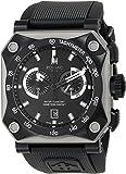 Zodiac ZMX Men's ZO8518 Adventure Analog Display Swiss Quartz Black Watch