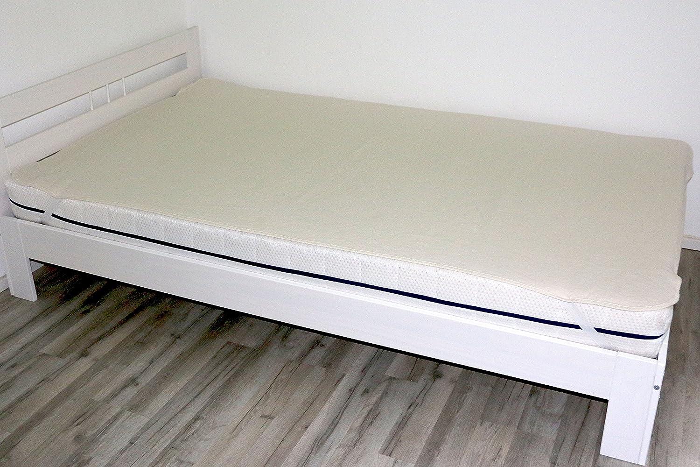 ZOLLNER Protector de colchón de algodón Cama 140, 140x200 cm, Varias Medidas: Amazon.es: Hogar