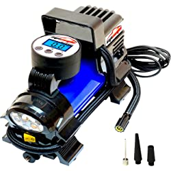 EPAuto 12V DC Portable Air Compressor Pump Digital Tire Inflator by 100 PSI