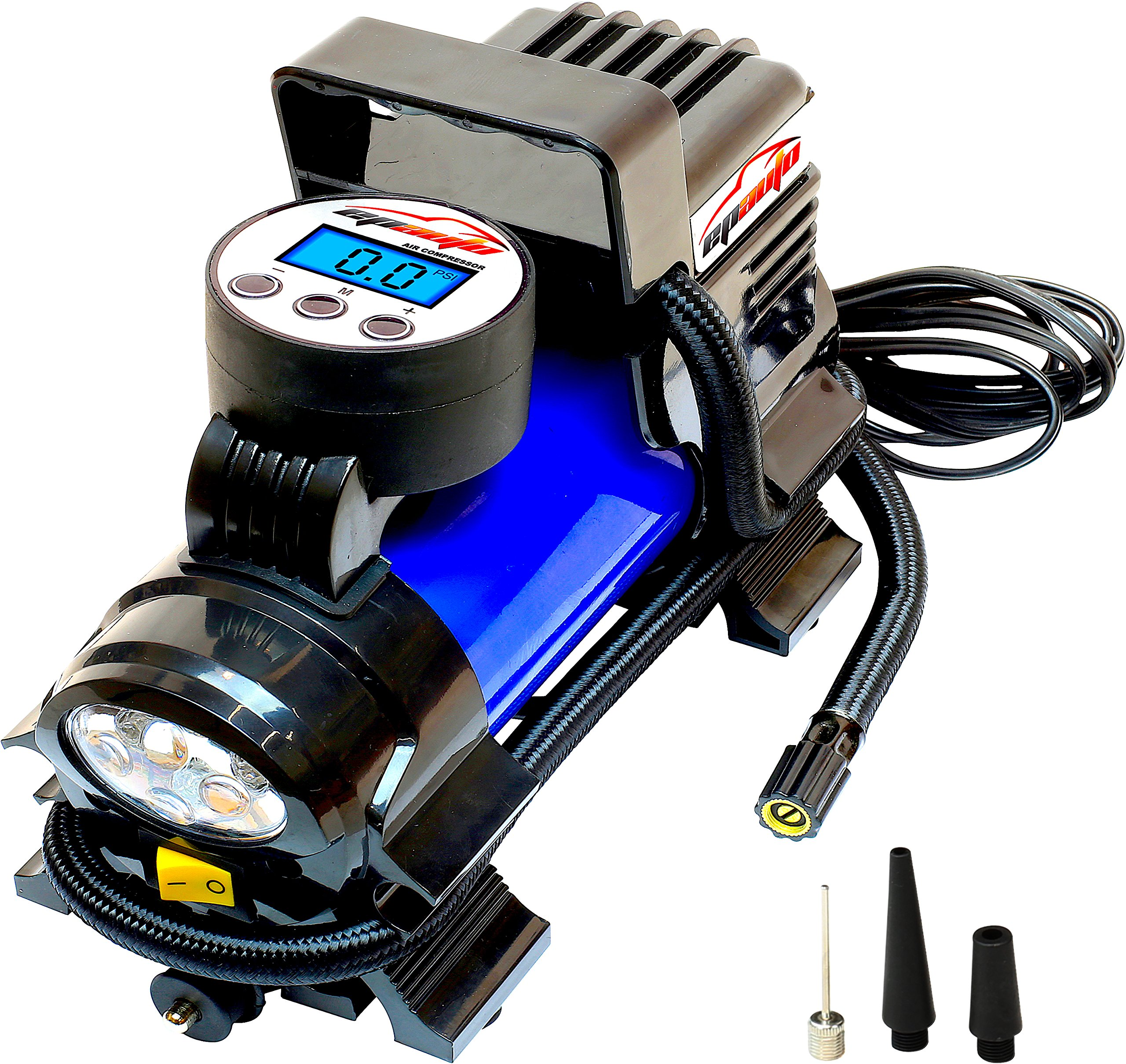 EPAuto 12V DC Portable Air Compressor Pump, Digital Tire Inflator