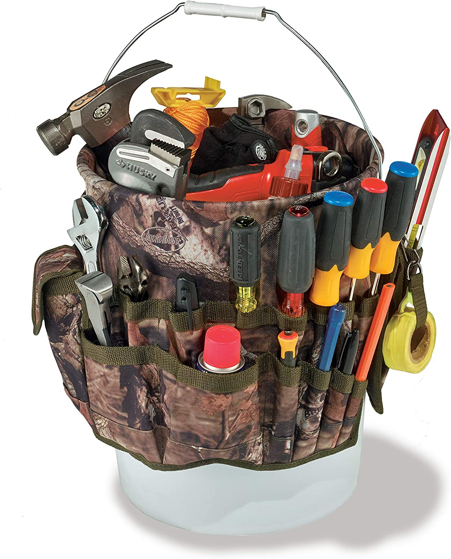 Bucket Boss - Camo Bucketeer Bucket Tool Organizer (Fits 5 Gallon Bucket), Bucket Organization (85030), Mossy Oak Camo