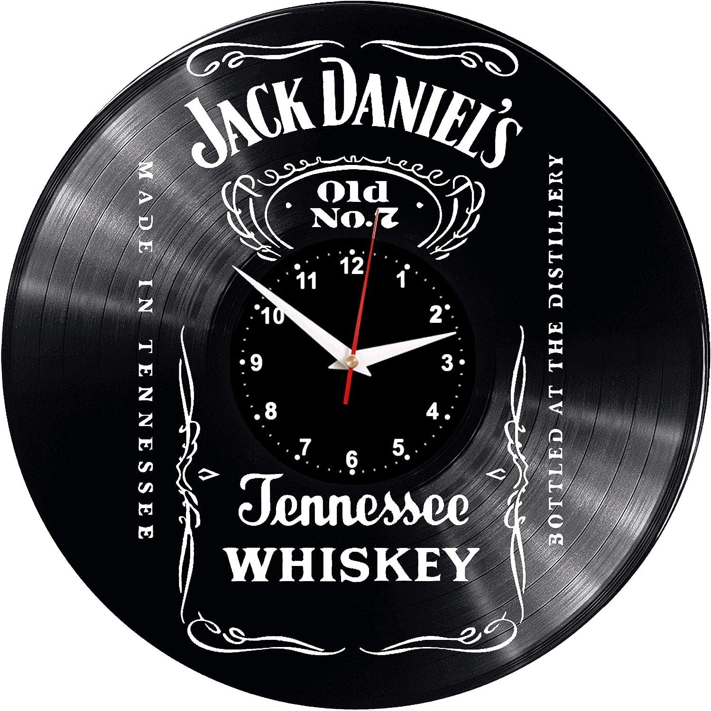 per la casa motivo: Jack Daniels bellissima idea regalo stile retr/ò WoD- Orologio da parete a forma di disco in vinile