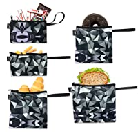 Nordic By Nature Reusable Sandwich Bag Snack Bags - Value Pack of 5 Dual Layer Lunch...