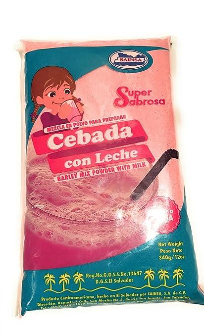 Cebada con Leche Sabor a Fresa