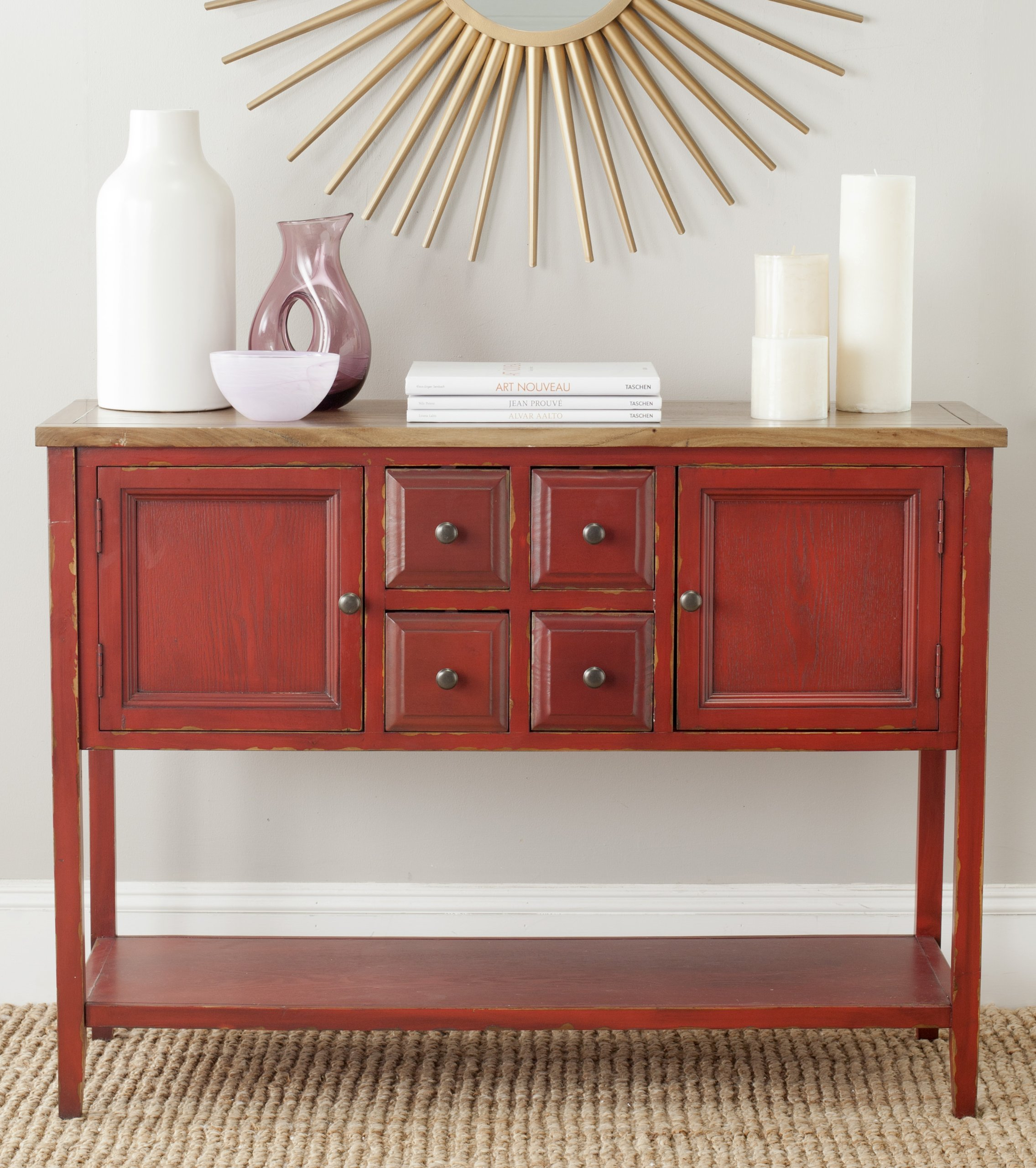 Safavieh American Homes Collection Charlotte Egyptian Red and Oak Sideboard by Safavieh