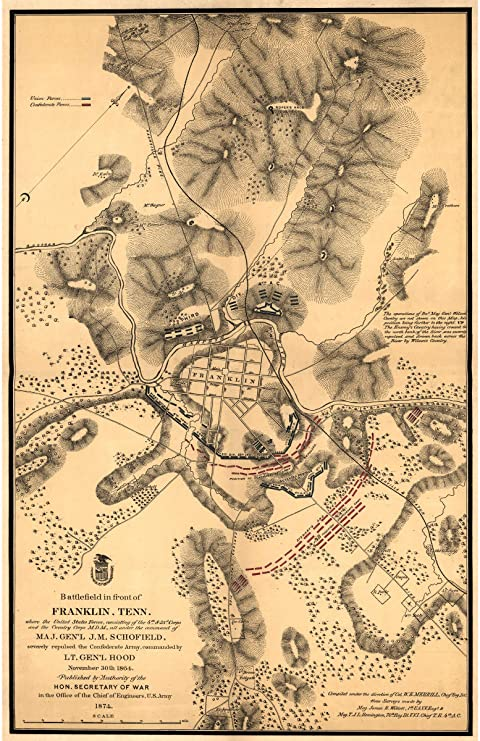 Battle of Franklin Tennessee NEW Vintage Reprint POSTER November 30 1864