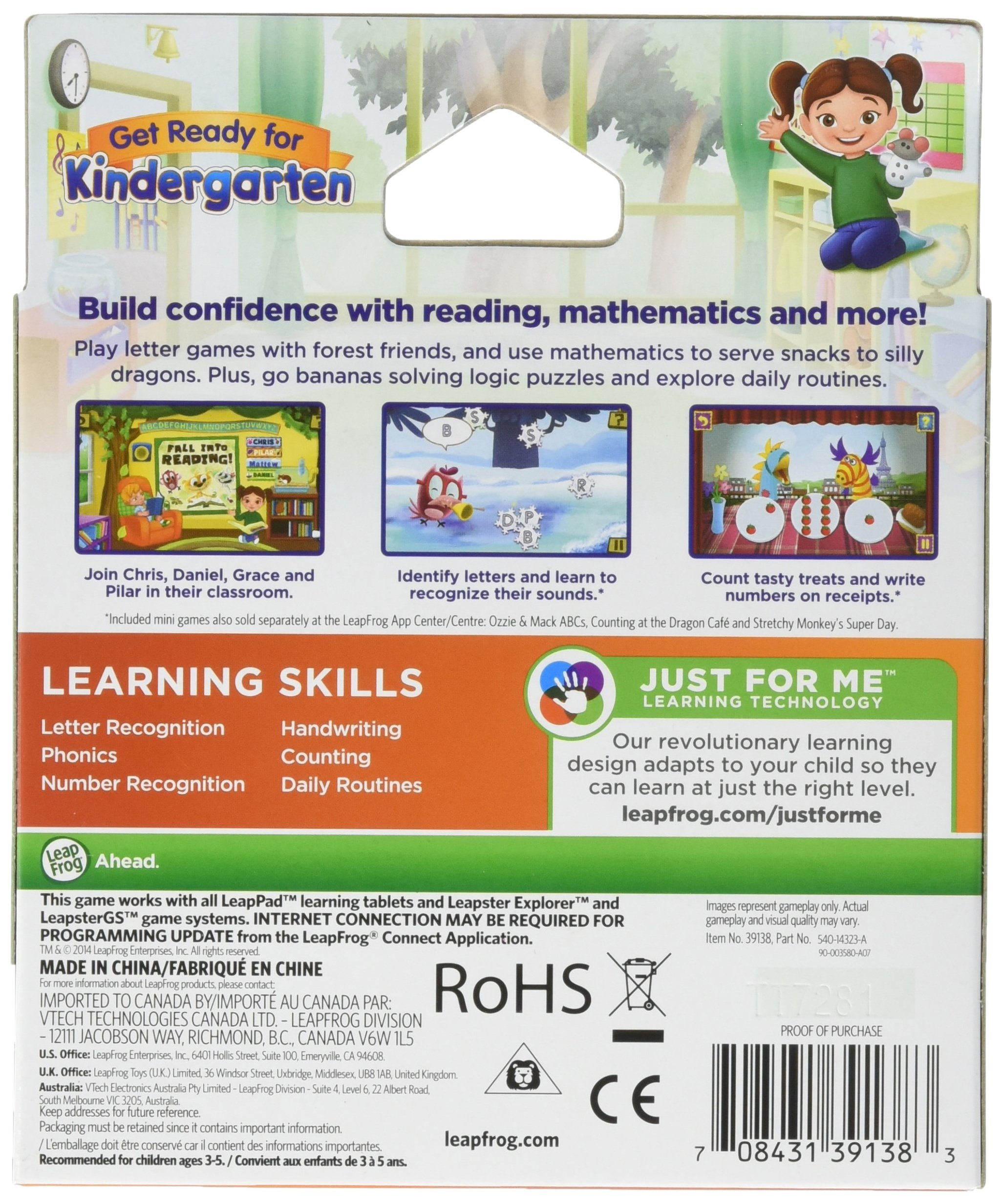 LeapFrog Learning Game: Get Ready for Kindergarten (for LeapPad Ultra, LeapPad1, LeapPad2, Leapster Explorer, LeapsterGS Explorer) by LeapFrog (Image #2)