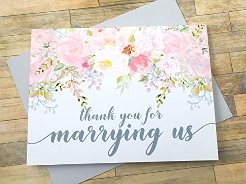 Amazon Com Thank You For Marrying Us Card For Officiant