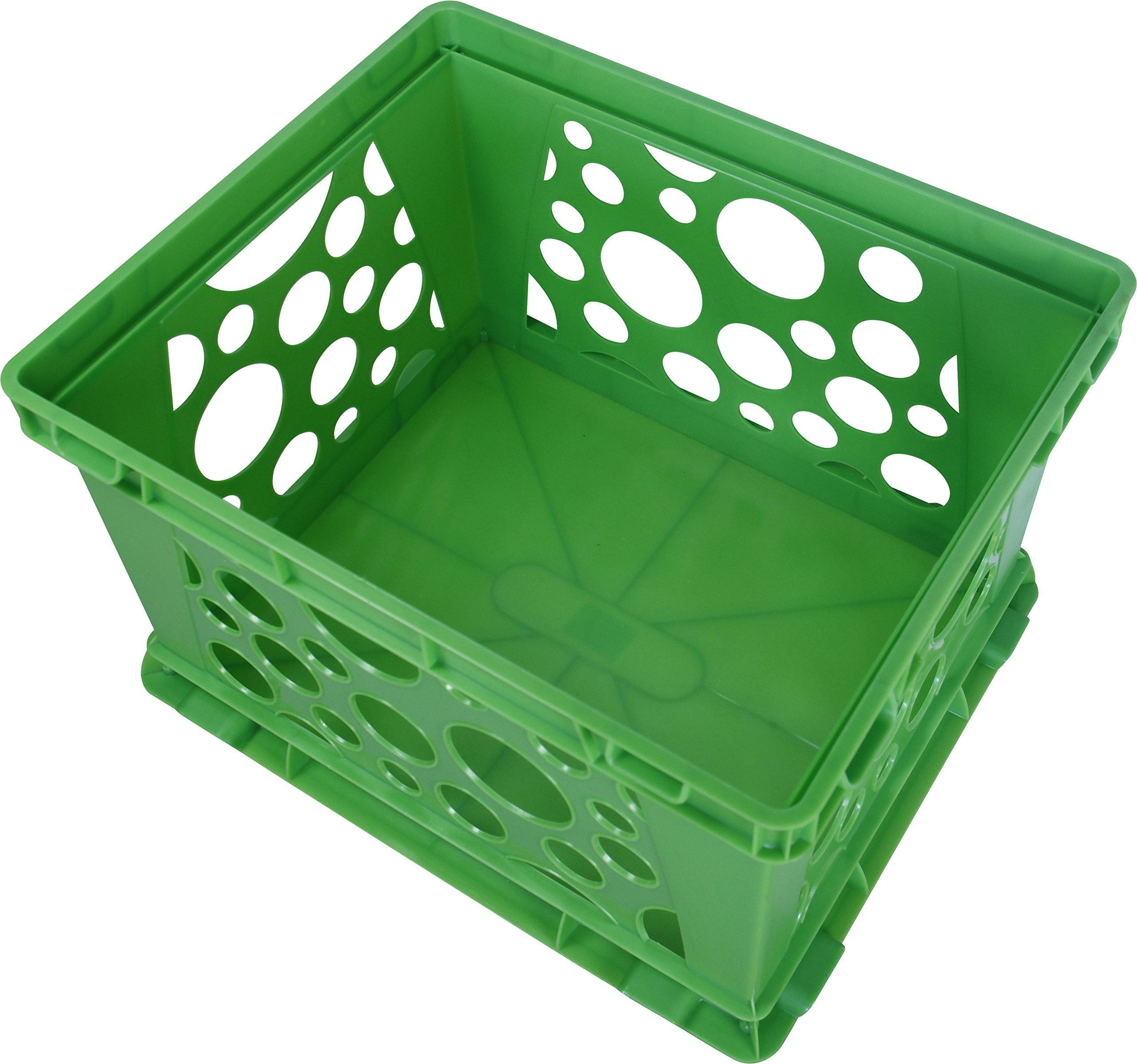Storex Large Storage and Transport File Crate, 17.25 x 14.25 x 10.5 Inches, Green, Case of 3 (STX61556U03C) by Storex (Image #4)