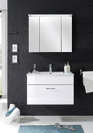 Badmöbel U0026quot;SPLASHu0026quot; 2 Tlg Badezimmer Set Badmöbel Badezimmermöbel  In Weiß Abs Weiß Gallery