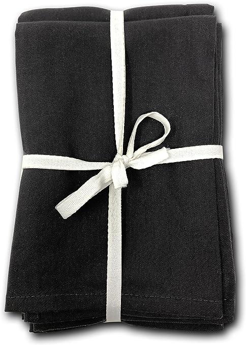 Servilletas 100% algodón egipcio, juego de 12 servilletas de lino ...
