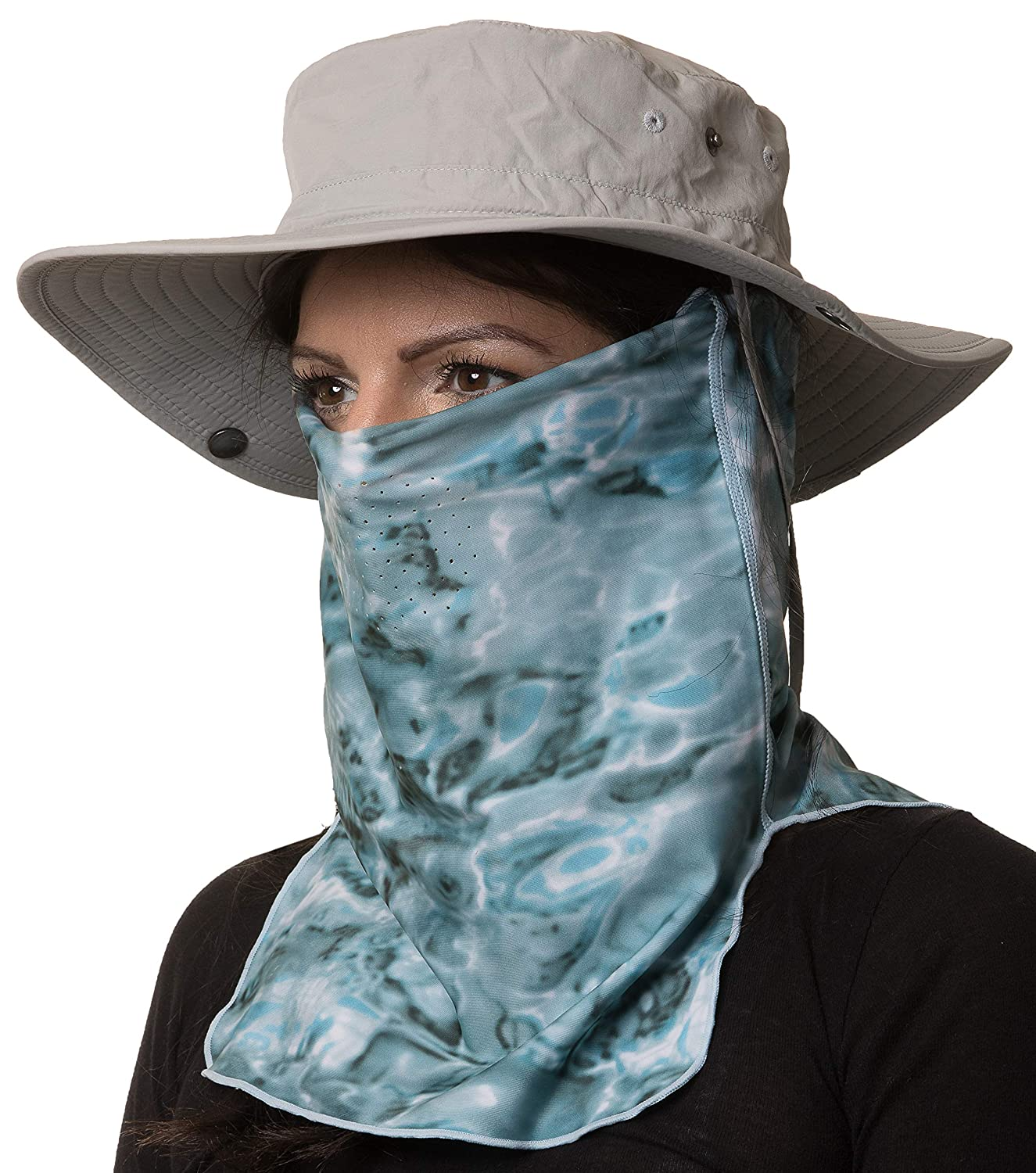 Amazon.com : Aqua Design Sun Proctection for Women Size Adjustable UPF 50+ ProMax UV Mask Tube : Sports & Outdoors