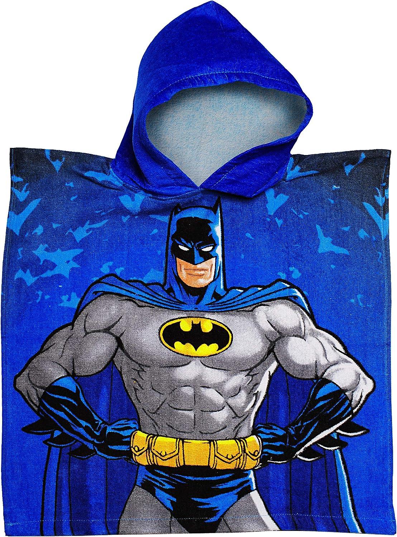 mit Kapuze Han.. 100 /% Baumwolle Name alles-meine.de GmbH Badeponcho // Kapuzenhandtuch Batman // Superman 50 cm * 105 cm Frottee // Velours inkl 2 bis 6 Jahre Poncho