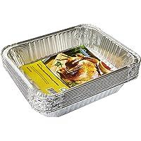 """eHomeA2Z Aluminum Pans Half Size Disposable 9"""" x 13"""" 10 Pack (10, Half Size)"""