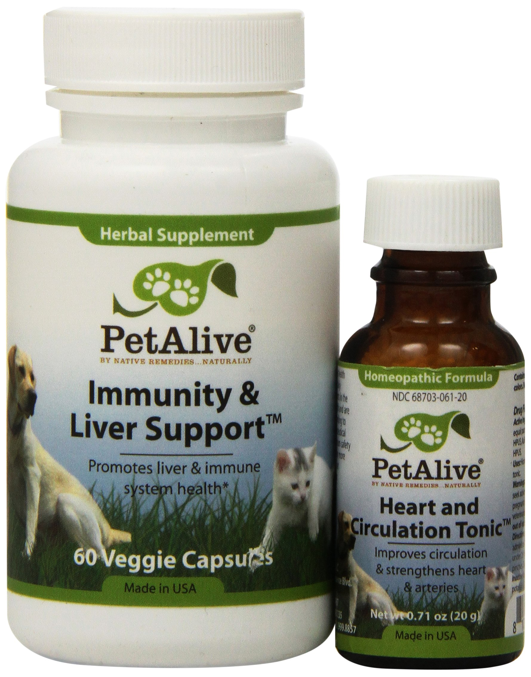 PetAlive Heart & Circulation Tonic and Immunity & Liver Support ComboPack