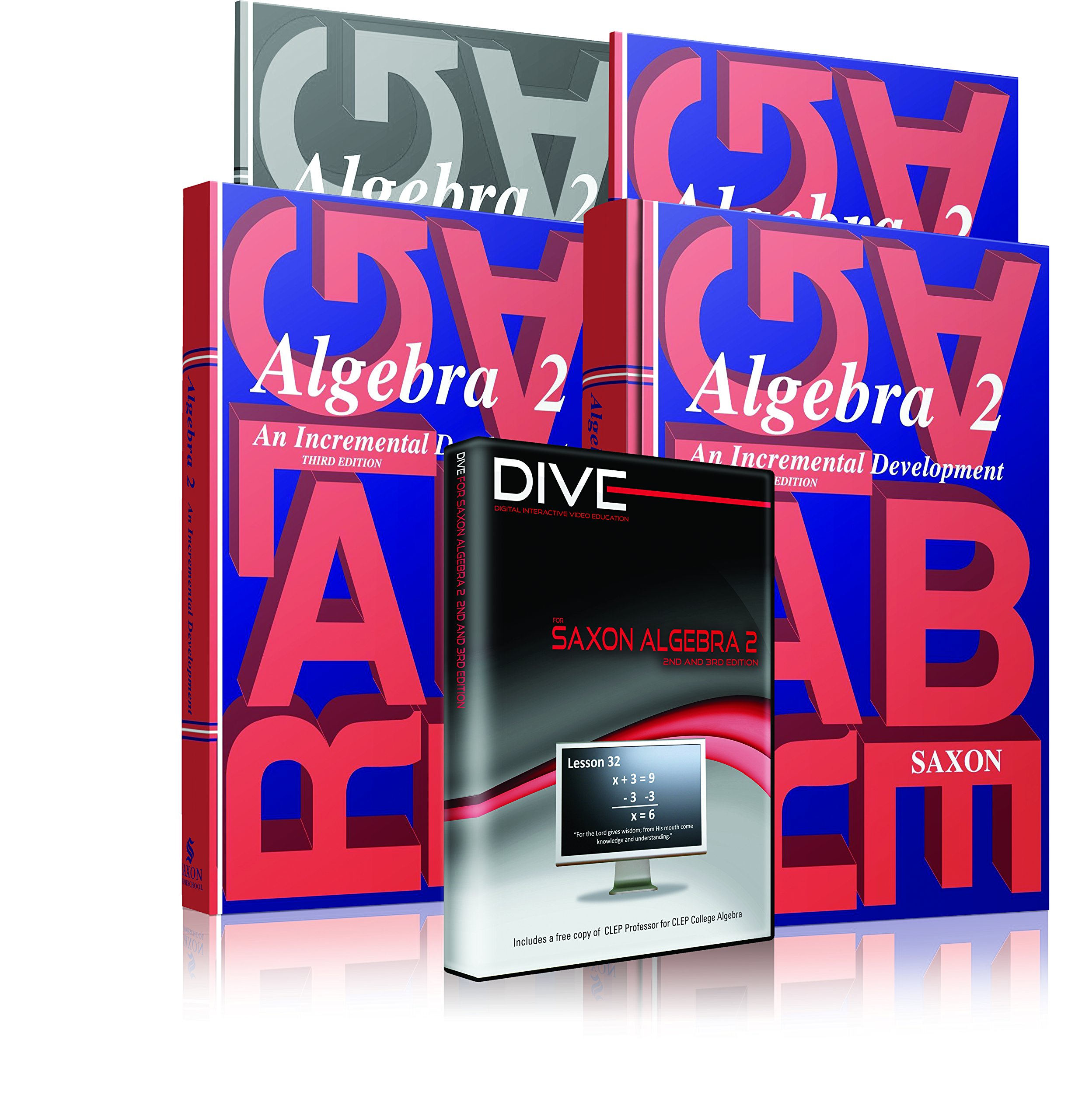 Saxon Algebra 2 3rd Edition Complete Kit w/Solutions Manual & DIVE  Instructional CD: John Saxon, Dr. David Shormann, PhD David Shormann:  0837654021859: ...