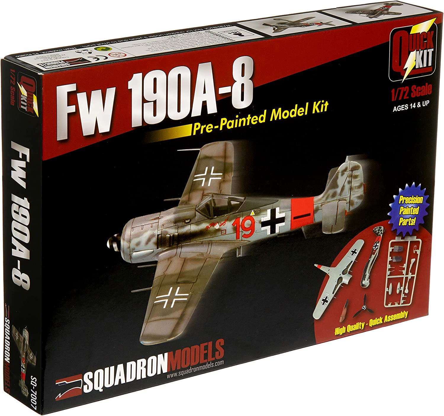 Squadron Products 1/72 FW 190A-8 Pre-Painted Quick Kit
